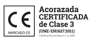 Puerta acorazada certificada de clase 3 IRON